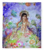 An Angel For All Of The Chakras And Her Name Is Simplicity Fleece Blanket