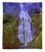 An Angel In The Falls  Fleece Blanket