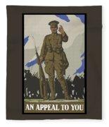 An Appeal To You Fleece Blanket