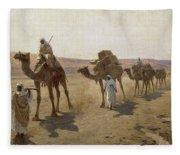 An Arab Caravan Fleece Blanket