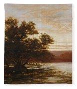 An Australian Mangrove. Ebb Tide Fleece Blanket