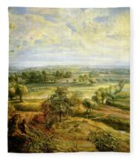 An Autumn Landscape With A View Of Het Steen In The Early Morning Fleece Blanket