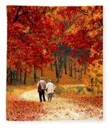 An Autumn Walk Fleece Blanket