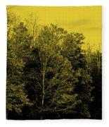 An Autumnal Visit Fleece Blanket