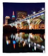 An Early Evening In Cleveland Fleece Blanket