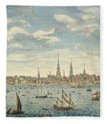 An East Prospective View Of The City Of Philadelphia Fleece Blanket