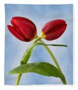 An Embrace Of Tulips Fleece Blanket