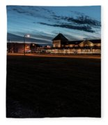 An Evening At The Train Station Fleece Blanket