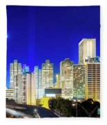 An Evening In Atlanta Fleece Blanket