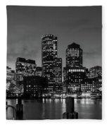 An Evening In Boston Fleece Blanket
