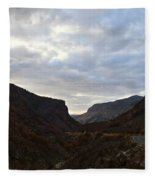 An Evening View Through A Valley In The Southwest Foothills Of The Sierra Nevadas Fleece Blanket