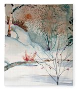 An Icy Winter Fleece Blanket
