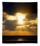 An Inspiring Evening Fleece Blanket