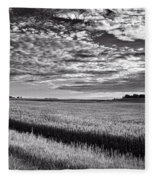 An Iowa Sunset Fleece Blanket