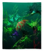 An Octopus's Garden Fleece Blanket