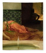 An Odalisque In A Harem Fleece Blanket