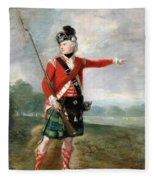 An Officer Of The Light Company Of The 73rd Highlanders Fleece Blanket