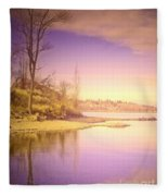 An Okanagan Calm Fleece Blanket