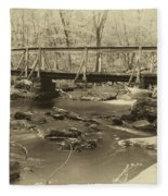An Old Bridge Fleece Blanket