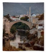 An Old Bridge In Mostar Fleece Blanket