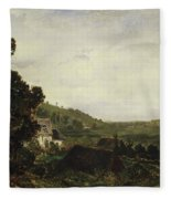 An Old Chapel In A Valley Fleece Blanket