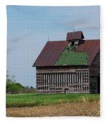 An Old Illinois Barn Fleece Blanket