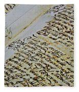 An Old Manuscript Fleece Blanket