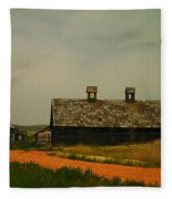 An Old Montana Barn Fleece Blanket