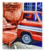 An Old Pickup Truck 2 Fleece Blanket