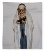An Old Rabbi Fleece Blanket