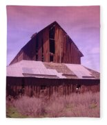 An Old Weathered Barn  Fleece Blanket