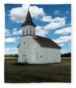 An Old Wooden Church Fleece Blanket