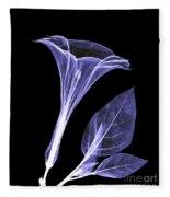 An X-ray Of A Datura Flower Fleece Blanket