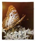 Anartia Jatrophae - White Peacock Butterfly  Fleece Blanket