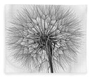 Anatomy Of A Weed Monochrome Fleece Blanket