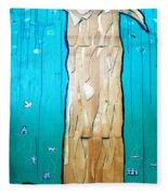 Ancestral Tree Indians To The Sea Fleece Blanket