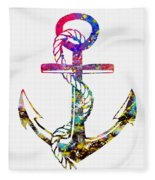 Anchor-colorful Fleece Blanket
