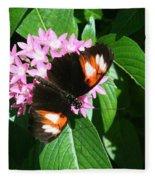 Anchored Down - Butterfly Fleece Blanket