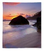 Anchoring The Beach Fleece Blanket