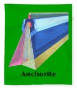 Anchorite -text Fleece Blanket