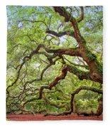 Ancient Angel Oak Tree  Fleece Blanket