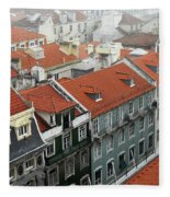 Ancient Buildings At Lisbon. Portugal Fleece Blanket
