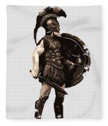 Ancient Greek Hoplite Fleece Blanket