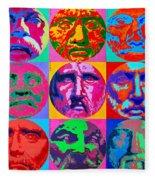 Ancient Greek Philosophers Fleece Blanket