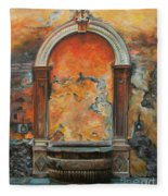 Ancient Italian Fountain Fleece Blanket
