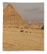Ancient Of Times - Modern Of Times Fleece Blanket