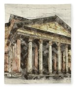 Ancient Pantheon Fleece Blanket