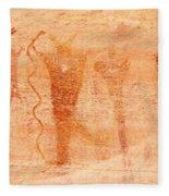 Ancient Rock Art 2 Fleece Blanket