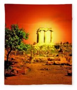 Ancient Ruins Fleece Blanket