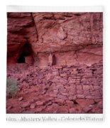Ancient Ruins Mystery Valley Colorado Plateau Arizona 02 Text Fleece Blanket